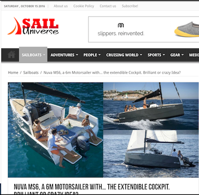 Nuva MS6, a 6m Motorsailer with… the extendible Cockpit. Brilliant or crazy Idea?