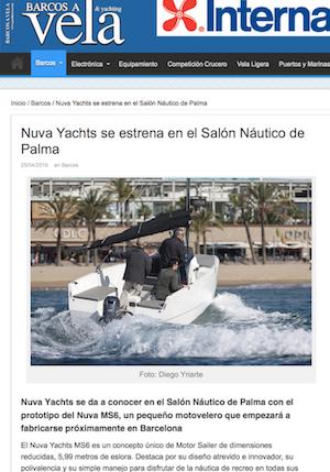 BARCOS A VELA - Nuva Yachts se estrena en el Salón Náutico de Palma