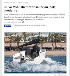 BOAT INDUSTRY - Nuva MS6 : Un motor-sailor au look moderne