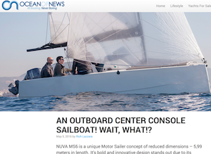 An Outboard Center Console Sailboat! Wait, What!?
