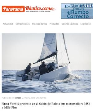 PANORAMA NÁUTICO - Nuva Yachts presenta en el Salón de Palma sus motorsailors MS6 y MS6 Plus