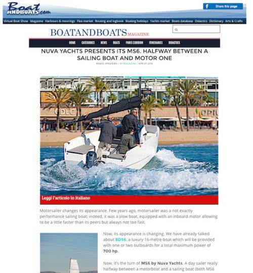 BOATANDBOATS - NUVA YACHTS PRESENTS ITS MS6.