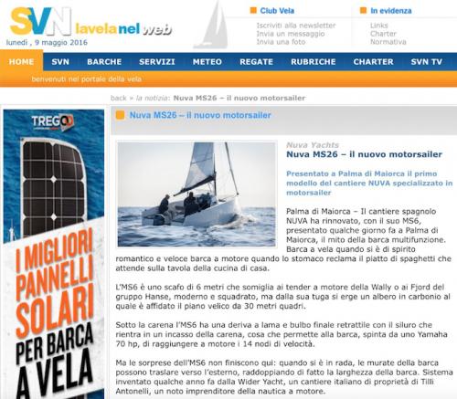 SOLOVELA -  NUVA MS6 – il nuovo motorsailer