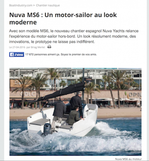 BOAT INDUSTRY - Nuva MS6 : Un motor-sailor au look moderne