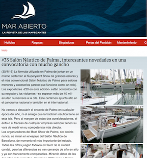 MAR ABIERTO -  #33 Salón Náutico de Palma, interesantes novedades en una convocatoria con mucho ganc