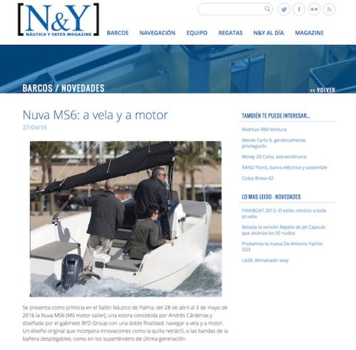 N&Y - Nuva MS6: a vela y a motor